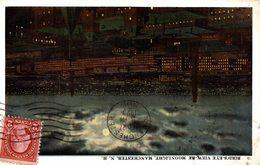 MANCHESTER Bird's Eye View By Moonlight - Manchester