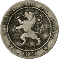 Monnaie, Belgique, Leopold I, 5 Centimes, 1861, B+, Copper-nickel, KM:21 - 1831-1865: Leopold I