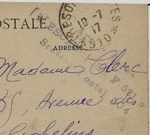 Guerre 14 - 18  CARTE 1917 CACHET ARMEE SERBE ESCADRILLE F 521 SECTEUR POSTAL 504 SUR CARTE DE SALONIQUE GRECE - Weltkrieg 1914-18