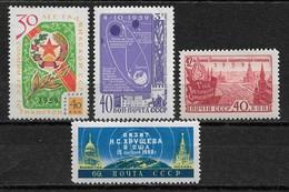 Russia/USSR 1959,Consecutive,Scott # 2258-2261,VF MNH** (NS-1) - 1923-1991 USSR