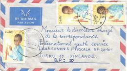 DRC RDC Zaire Congo 1983 Kinshasa Palais Code Letter B Noel Christmas Candle 1Z Cover - 1980-89: Oblitérés
