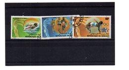 EDY 860 - GIBUTI , 3 Valori Usati A Tema Los Angeles Olimpiadi 1984 - Gibuti (1977-...)