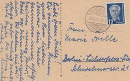 CP Affr Michel DDR 251 Obl FALKENHAUSEN / (OSTPRIGNITZ) Du 30.12.50 Adressée à Berlin - DDR