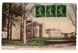 CPA Colorisée Grisy Suisnes 77 Seine Et Marne Place Mairie Reste Ancienne Eglise éditeur Veuve Beeckman - Autres Communes