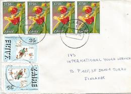 DRC RDC Zaire Congo 1989 Bukavu 1 Code Letter I Football Parrot Flower Impatiens Niamniamensis Cover - Zaire