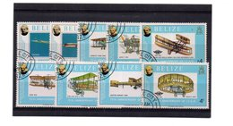 EDY 866 - BELIZE , 9 Valori Usati A Tema Aerei - Belize (1973-...)