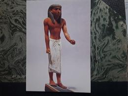 Antiquités Égyptiennes, Egypte  Dignitaire Qui Marchait à L'aide D'une Canne, Bois Peint, V 1900 Av JC, Musée Du Louvre - Belle-Arti