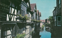 "Inghilterra - Kent - Canterbury : ""Weavers"" House And The River - Vecchie Case Di Tessitori Sul Fiume - Canterbury"