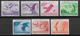 LIECHTENSTEIN - POSTE AERIENNE YVERT N° 17/23 * MLH - COTE = 15 EUR. - OISEAUX - Poste Aérienne