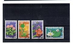 EDY 871 - CONGO 1979, 4 Valori Usati A Tema FIORI - Benin – Dahomey (1960-...)
