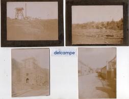 4 Photos Anciennes  - TRELAZE  (49)  Ardoisières Et Une Rue De Trélazé. - Orte