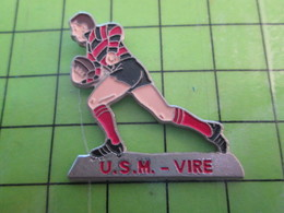 1118B Pin's Pins / Rare Et De Belle Qualité / THEME SPORTS :  NORMANDIE CALVADOS VIRE RUGBY CLUB USM VIRE - Rugby