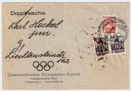 1936, österr. Komite- Kouvert, RR!  , #a1118 - Sommer 1936: Berlin