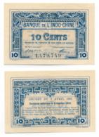 1919 // BANQUE DE L'INDO-CHINE // 6 Octobre 1919 // Bon De 10 Cents - Bons & Nécessité