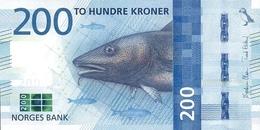 NORWAY 200 KRONER 2016 P-55a UNC  [NO055a] - Norway