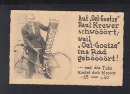 Dt. Reich AK Paul Krewer Rennfahrer Fahrrad  Öl Werbung - Werbepostkarten