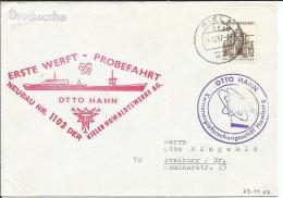 Deutschland  Schiffspost  1967  Probefahrt  OTTO HAHN - Schiffe