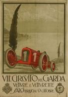 Car Automobile Grand Prix Postcard Saló (Brescia) Circuito Del Garda 1939 - Reproduction - Pubblicitari