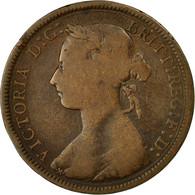 Monnaie, Grande-Bretagne, Victoria, 1/2 Penny, 1891, TB, Bronze, KM:754 - 1816-1901 : Frappes XIX° S.