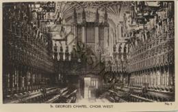 St. Georges Chapel - Choir West  [E352 - Postcards