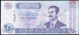 IRAQ : 250 Dinars - P88 -  2002 - UNC - Iraq