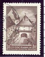 YUGOSLAVIA 1941 Zagreb Philatelic Exhibition 1.50 D. With Engraver;s Mark 'S', Used,  Michel 437 I - 1931-1941 Königreich Jugoslawien
