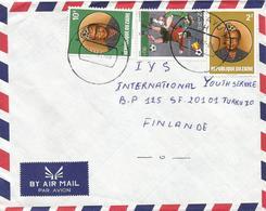 DRC RDC Zaire Congo 1982 Bukavu Code Letter H World Cup Football Spain 90k President Mobuto 10k 2Z Cover - 1980-89: Oblitérés