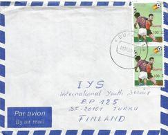 DRC RDC Zaire Congo 1990 Bukavu World Cup Football Spain 100Z On 25k Michel 1010 Cover - 1990-96: Oblitérés