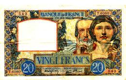 BILLET /20 FRANCS SCIENCE ET TRAVAIL  SUP + -18- 9-1941 - 1871-1952 Anciens Francs Circulés Au XXème