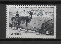 ANDORRE - POSTE AERIENNE YVERT N° 1 ** MNH - COTE = 110 EUR. - ANIMAUX - Airmail