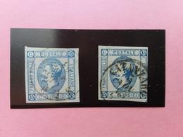 REGNO 1863 - Effigie Di Vittorio Emanuele II° - I° E II° Tipo Timbrati + Spese Postali - 1861-78 Vittorio Emanuele II