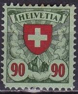 Switzerland / Schweiz / Suisse : 1924 Freimarken ; Wappen 90 C. Grün / Rot Mit Falz Michel 194 X - Nuevos