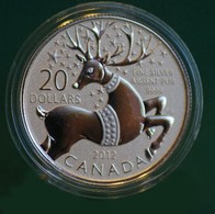 CANADA 2012 20$ PROOF SILVER COIN MAGICAL REINDEER 99.999% PURE 14414-8 - Canada
