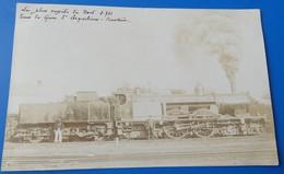 Carte Photo - La Plus Rapide Du Nord 2.741 Dans La Gare D'erquelinnes Frontiere - Train Locomotive - Erquelinnes