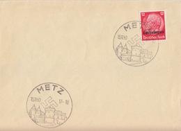 Lettre Oblitéré De Metz (T 340 Metz B) TP Lotr 12pf Le 13/11/40 - Marcofilia (sobres)