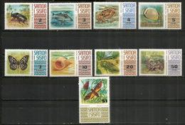 Faune Des Iles Samoa (crustacés,insectes,poissons)  9 Timbres Neufs **  Côte 25,00 Euro - Samoa