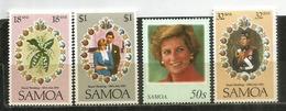 Hommage à Diana.  4 Timbres Neufs ** - Samoa