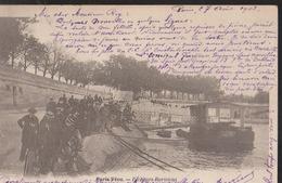 CPA : Paris Vécu : Pêcheurs Parisiens : Ponton Visible - Lotes Y Colecciones