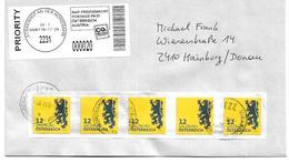 1602d: Dauerserie Heraldik Portogerechter Fünferstreifen Gest. 2231 Strasshof An Der Nordbahn 3.10.2018 Mit Opal- Label - Machine Stamps (ATM)
