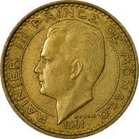 Monnaie, Monaco, Rainier III, 10 Francs, 1951, TB+, Aluminum-Bronze, Gadoury:MC - 1960-2001 Nouveaux Francs