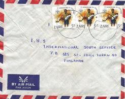 DRC RDC Zaire Congo 1984 Beni Code Letter B Scouting Cover - 1980-89: Oblitérés