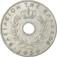 Monnaie, Grèce, 20 Lepta, 1959, TB+, Aluminium, KM:79 - Greece