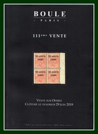 Catalogue 111éme Vente Sur Offres Boule 2018 TB - Catalogues For Auction Houses