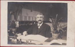 Oude Foto Old Photo Man Met Snor Moustache - Historical Documents