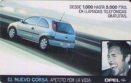 TARJETA TELEFONICA DE ESPAÑA, (PREPAGO). NUEVO CORSA, OPEL. (383). - Cars
