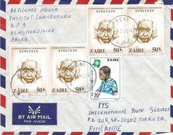 DRC RDC Zaire Congo 1981 Beni Albert Einstein 50k IYC Child Year 20k Cover - 1980-89: Oblitérés