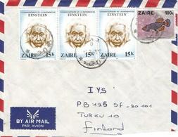 DRC RDC Zaire Congo 1981 Bunia Albert Einstein 15k Fresh Water Fish Nothobranchius Brieni Cover - 1980-89: Oblitérés