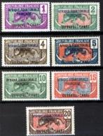 Fr Ubangui Chari 1924, Panthère 1-20c Yv 43-49 MNH, Maury 9€ - Ubangui (1915-1936)