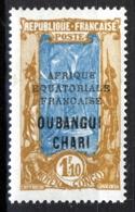 Fr Ubangui Chari 1927, Avenue Des Cocotiers 1,10 Fr XF MNH, Maury 6,5€ - Oubangui (1915-1936)