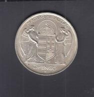 Hungary 5 Pengö 1939 Silver - Hongrie